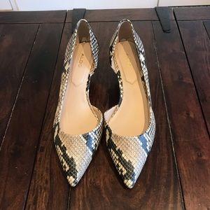 NWOB Aldo nude animal print 2' heels
